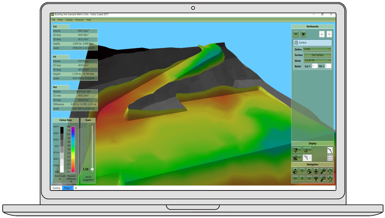 Earthworks Cut & Fill Software