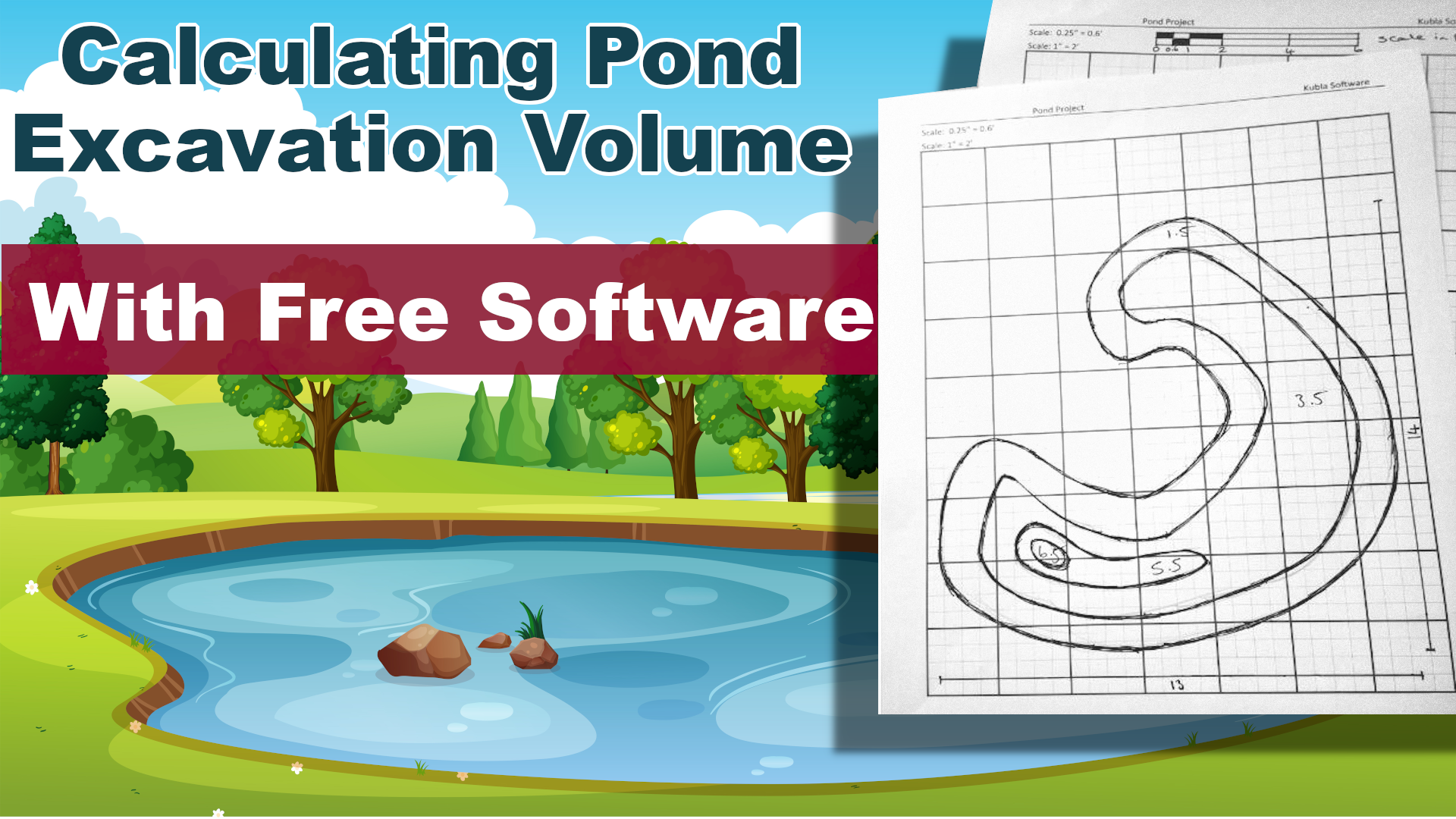 How To Calculate The Excavation Volume Of A Pond, Using Free Software
